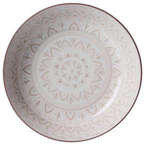 DJUP TALLRIK - creme/brun, Klassisk, keramik (20cm) - Ritzenhoff Breker