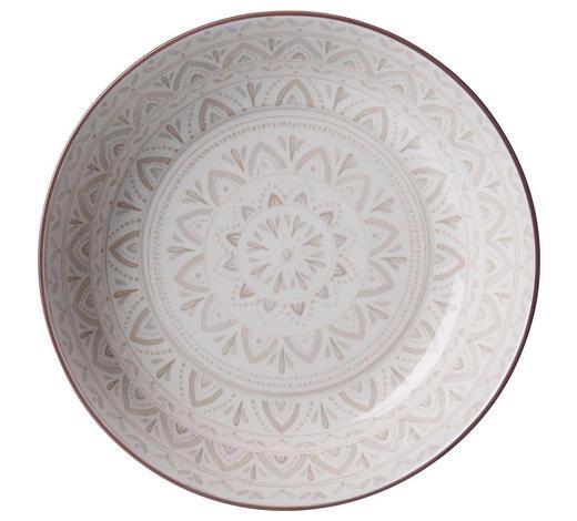 SUPPENTELLER 20 cm  - Creme/Braun, KONVENTIONELL, Keramik (20cm) - Ritzenhoff Breker