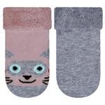 Socken 2-er Pack - Rosa/Grau, Basics, Textil (17/18null) - My Baby Lou