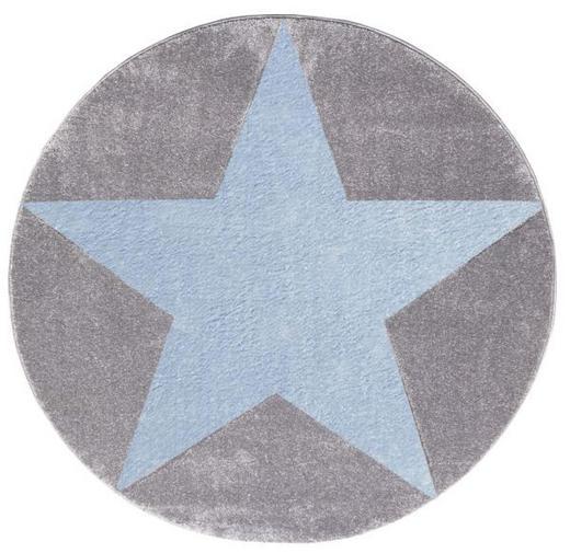 KINDERTEPPICH   Blau, Grau, Silberfarben - Blau/Silberfarben, Basics, Textil (133cm)