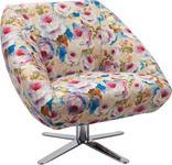 SESSEL in Textil Multicolor  - Chromfarben/Multicolor, Trend, Textil/Metall (88/82/81cm) - Landscape