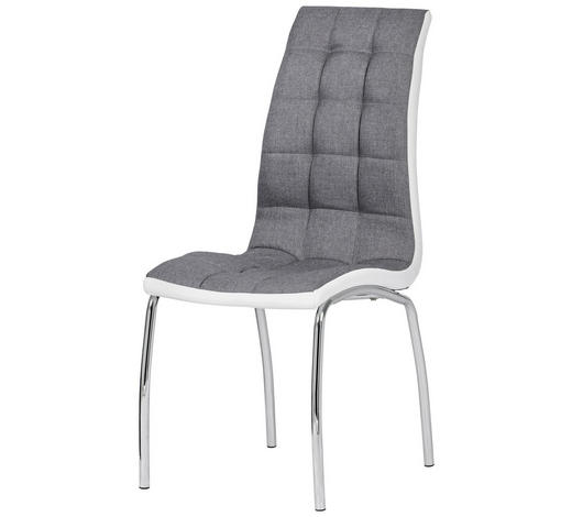 ŽIDLE, šedá, bílá - šedá/bílá, Design, kov/textil (42/100/59cm) - Cantus
