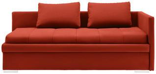 LIEGE in Textil Rot  - Chromfarben/Rot, KONVENTIONELL, Kunststoff/Textil (217/85/104cm) - Venda