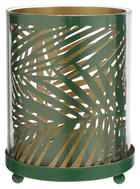 VÄRMELJUSHÅLLARE - grön, Basics, metall/glas (8,7/11,5cm) - AMBIA HOME