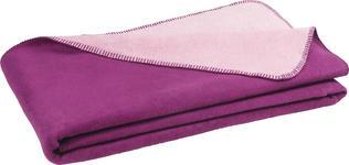 WOHNDECKE 150/200 cm - Beere/Rosa, Basics, Textil (150/200cm) - Novel