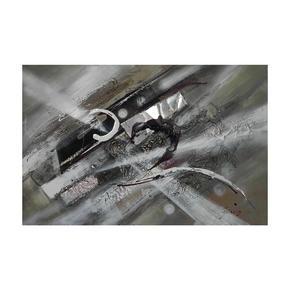 OLJEMÅLNING - vit/grå, Design, metall/trä (150/55cm) - Monee