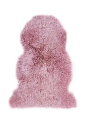 FÅRSKINN - gammelrosa/rosa, Trend, ytterligare naturmaterial/läder (60/85cm) - Linea Natura