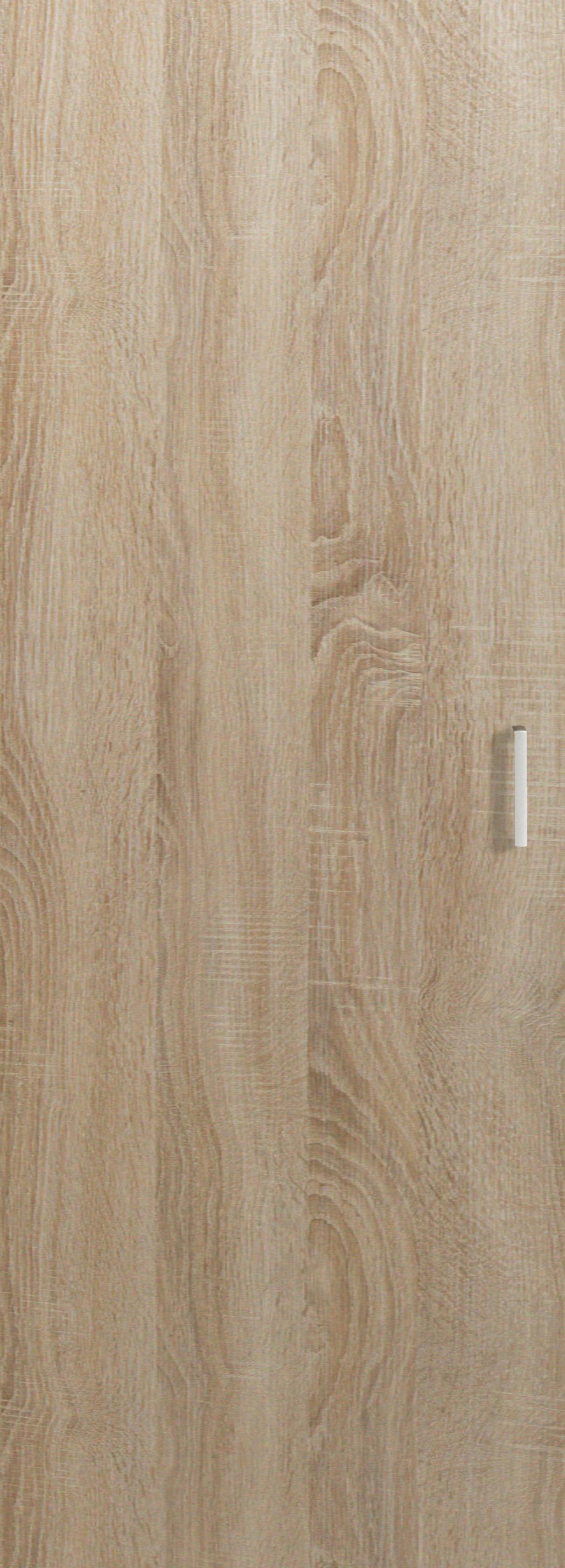 TÜR - Eichefarben/Silberfarben, KONVENTIONELL, Holzwerkstoff/Kunststoff (51/140/1,5cm) - CS SCHMAL