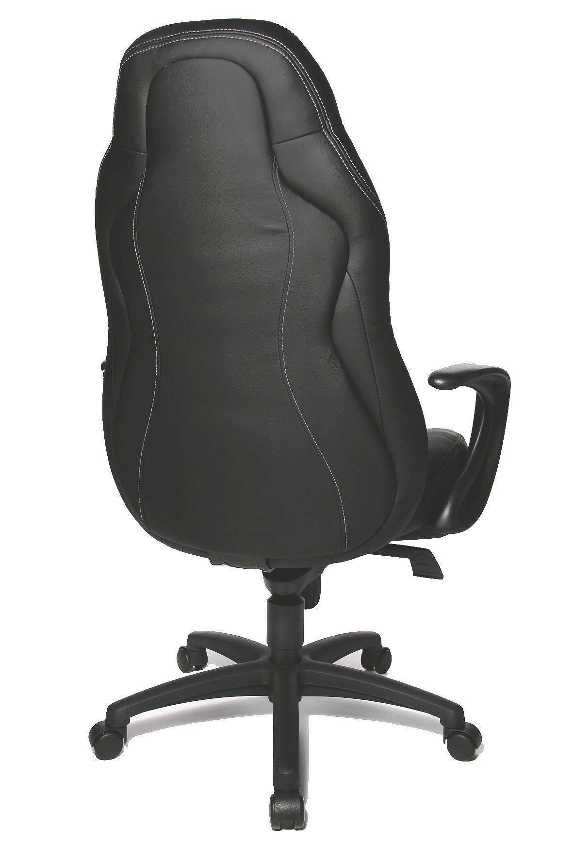 CHEFSESSEL Grau, Schwarz - Schwarz/Grau, Basics, Kunststoff/Textil