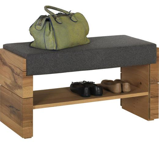 ŠATNÍ LAVICE, šedá, barvy dubu, starodřevo, dub - šedá/barvy dubu, Natur, dřevo/textil (91/49/38cm) - Voglauer
