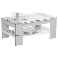 COUCHTISCH rechteckig Weiß, Eichefarben  - Eichefarben/Weiß, Design (100/58/44cm) - Carryhome
