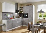 KUCHYŇSKÝ BLOK - bílá/světle šedá, Design, kompozitní dřevo (275/185cm) - Welnova