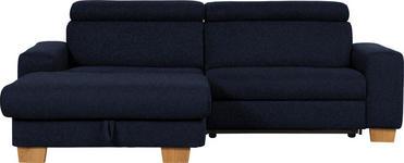 WOHNLANDSCHAFT Mikrofaser Schlaffunktion - Eichefarben/Schwarz, Design, Textil (178/262cm) - Hom`in