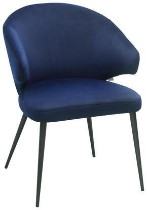 KARMSTOL - blå, Design, metall/textil (59 81 62cm) - Lomoco