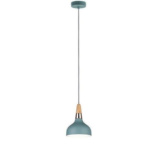 HÄNGELEUCHTE - Mintgrün/Kupferfarben, Design, Holz/Metall (16/172,5cm)
