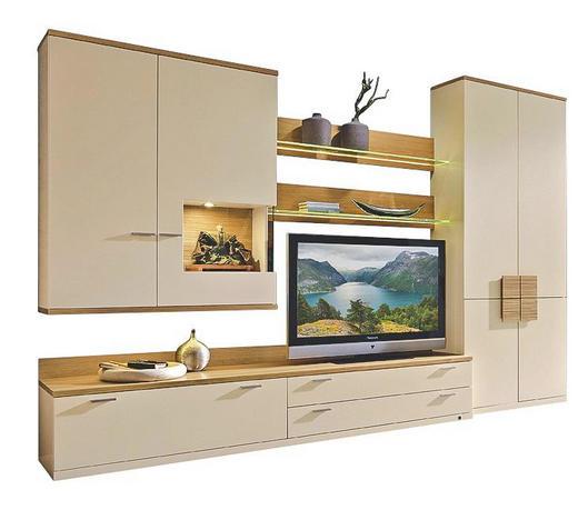 WOHNWAND Creme - Chromfarben/Creme, Design, Glas/Holz (315,0/218,3/49,2cm) - INVIVUS