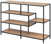 REGAL Schwarz, Eichefarben  - Eichefarben/Schwarz, MODERN, Holzwerkstoff/Metall (114/78/35cm) - Xora