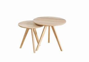 AVLASTNINGSBORD - vit/ekfärgad, Design, trä (50/48cm) - Rowico