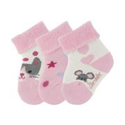 Babysöckchen 3er-Pack - Rosa, Basics, Textil (13/14null) - Sterntaler