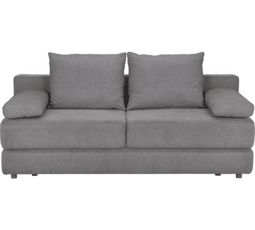 SCHLAFSOFA Webstoff Hellgrau - Hellgrau/Schwarz, KONVENTIONELL, Kunststoff/Textil (208/80/100cm) - Carryhome