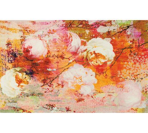 FUßMATTE 110/175 cm Floral Multicolor, Orange  - Multicolor/Orange, Basics, Kunststoff/Textil (110/175cm) - Esposa