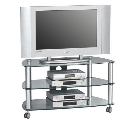TV-ELEMENT 95/52,8/51,4 cm - Schwarz/Alufarben, Basics, Glas/Kunststoff (95/52,8/51,4cm)