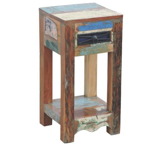 Kleiner Tisch Altholz.Beistelltisch Altholz Quadratisch Multicolor