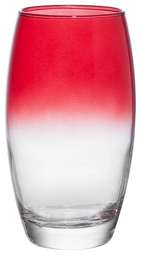 LONGDRINKGLAS - klar/röd, Trend, glas (6,6/14,5cm) - Homeware