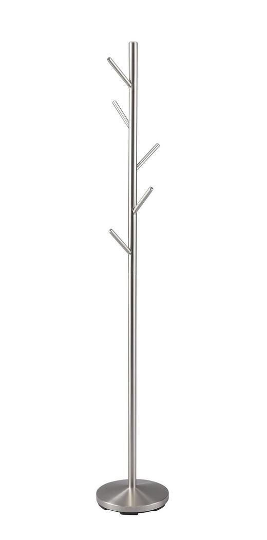 KLEIDERSTÄNDER Edelstahlfarben - Edelstahlfarben, Design, Metall (28,5/170/28,5cm) - Carryhome