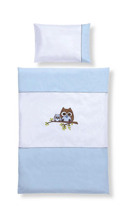 BABYBETTWÄSCHE - Blau/Weiß, Basics, Textil (100/135cm) - MY BABY LOU