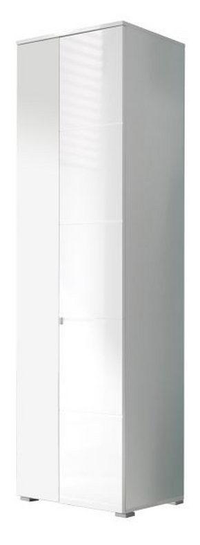 GARDEROB - vit, Design, glas/träbaserade material (60/198/40cm) - Xora