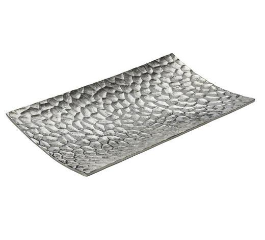 DEKOSCHALE - Nickelfarben, Design, Metall (40/22/4cm) - Ambia Home