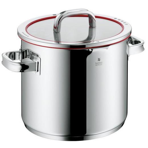 GEMÜSETOPF  Edelstahl 8,8 L - Edelstahlfarben/Rot, Basics, Kunststoff/Metall (24cm) - WMF