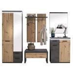 GARDEROBE Eichefarben, Dunkelgrau  - Eichefarben/Dunkelgrau, Design (261/201/38cm) - Voleo