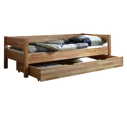 BETT Buche massiv 90/200 cm  - Buchefarben, KONVENTIONELL, Holz (90/200cm) - Carryhome