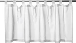 KURZGARDINE   145/50 cm - Weiß, Basics, Textil (145/50cm) - Boxxx