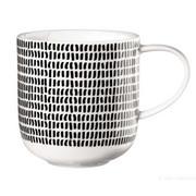 KAFFEEBECHER - Schwarz/Weiß, Design, Keramik (9,2/9,5cm) - ASA