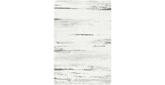 HOCHFLORTEPPICH  80/150 cm  gewebt  Grau, Schwarz, Weiß - Schwarz/Weiß, Basics, Textil (80/150cm) - Novel