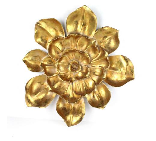WANDDEKO Kunststoff  - Goldfarben, LIFESTYLE, Kunststoff (53/56,5/7,5cm) - Ambia Home