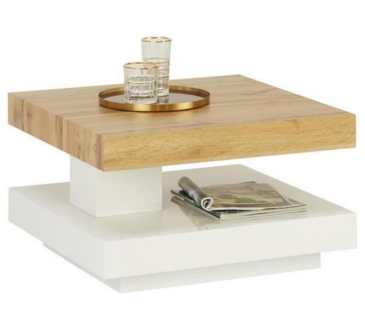 KONFERENČNÍ STOLEK, bílá, barvy dubu - bílá/barvy dubu, Design, kompozitní dřevo (60/60/35,5cm) - Xora