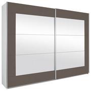 SCHWEBETÜRENSCHRANK in Grau, Weiß - Alufarben/Weiß, KONVENTIONELL, Glas/Holzwerkstoff (226/210/62cm) - Xora