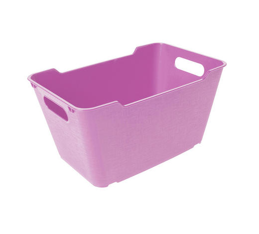 KOŠARA - roza, Basics, plastika (29,5/19/15cm)