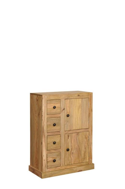KOMMODE Sheesham massiv Naturfarben - Naturfarben, Design, Holz (66/86/32cm) - Carryhome