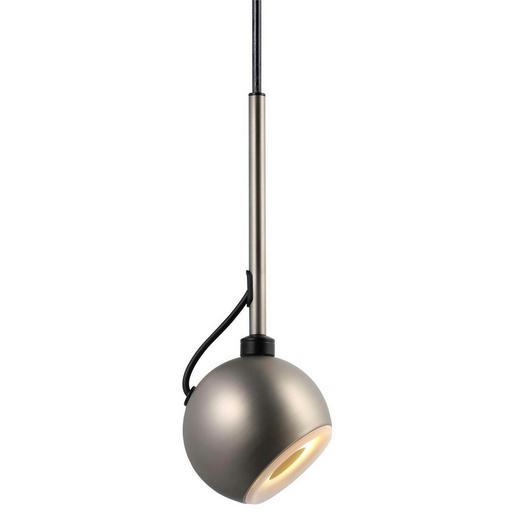 HÄNGELEUCHTE - Edelstahlfarben, MODERN, Kunststoff/Metall (11/19cm)