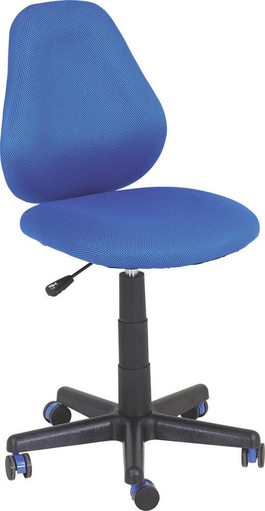JUGENDDREHSTUHL Netzbespannung Blau, Schwarz - Blau/Schwarz, Design, Kunststoff/Textil (42 82-94 58cm) - Xora