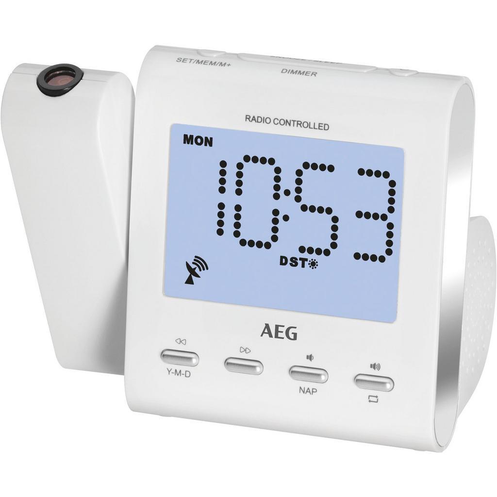 AEG AEG RADIOWECKER M.PROJEKTION Weiß