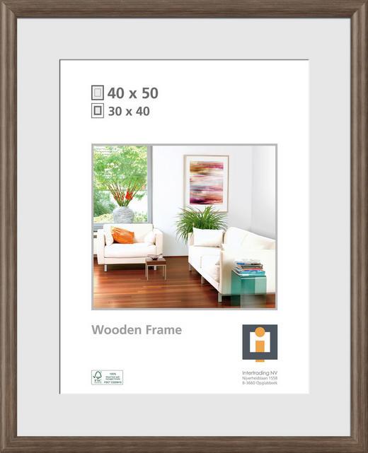 BILDERRAHMEN  Eichefarben - Eichefarben, Basics, Glas/Holz (40/50cm)