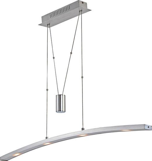 LED-HÄNGELEUCHTE - Alufarben, Design, Kunststoff/Metall (90/8/150cm) - Novel