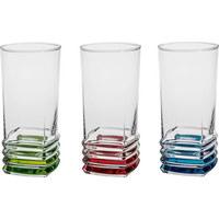 LONGDRINKGLAS 335 ml - Türkis/Klar, KONVENTIONELL, Glas (6,8/14cm) - Homeware
