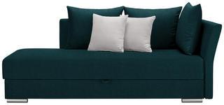 LIEGE in Textil Türkis, Weiß  - Türkis/Chromfarben, Design, Kunststoff/Textil (220/93/100cm) - Xora